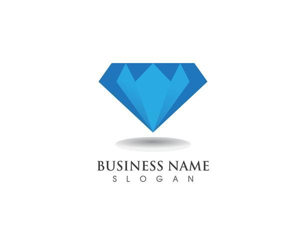 Icona del modello di simbolo di diamante logo vettoriale