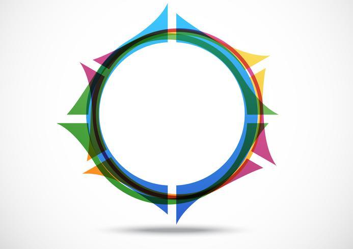 Progettazione di logo di navigazione astratta di affari vettore