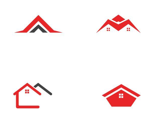 modello delle icone di simboli di logo delle costruzioni domestiche vettore