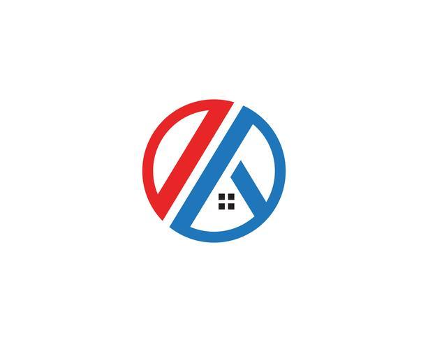 modello di icone logo e simboli casa vettore