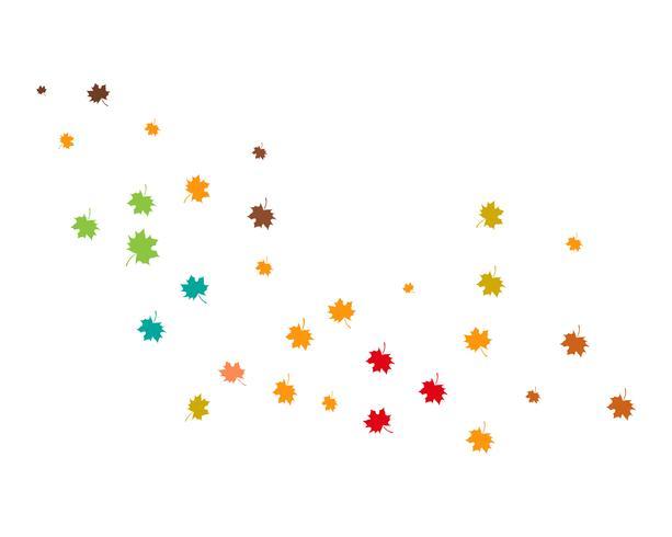 illustrazione vettoriale foglia d'autunno