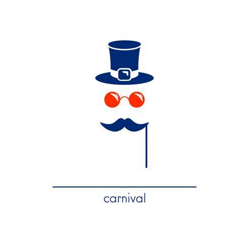 Icona della maschera di carnevale vettore