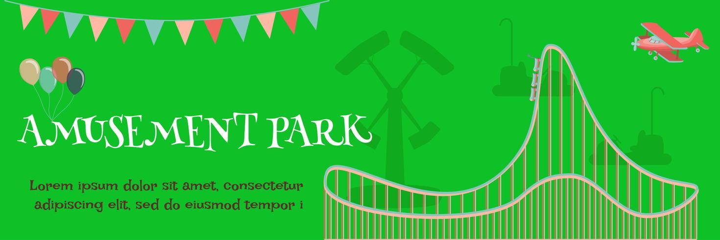 manifesto del parco di divertimenti vettore