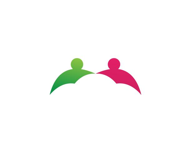 Adozione e cura della comunità Logo modello vettoriale