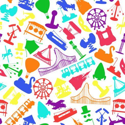 Il parco di divertimenti guida il modello senza cuciture vettore