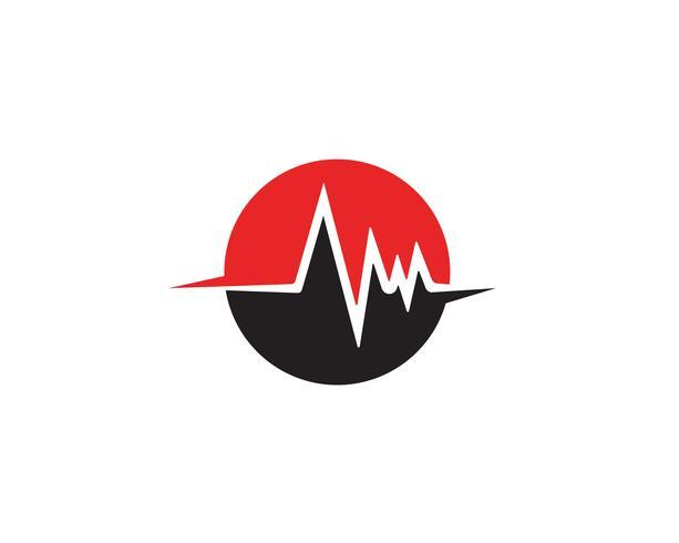 modello di vettore di linea di battito cardiaco