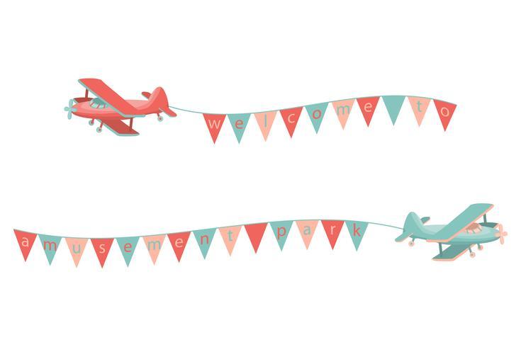 Icona dell'aeroplano del fumetto vettore