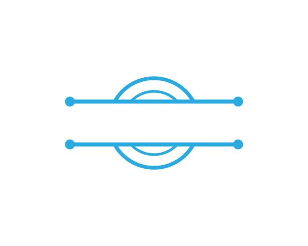 Vettore del cerchio e di logo del cerchio di C
