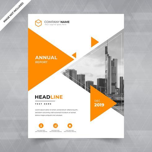 Opuscolo, poster, flyer, opuscoli, riviste, copertina con spazio per foto di sfondo, design triangolare. illustrazione vettoriale modello in formato A4