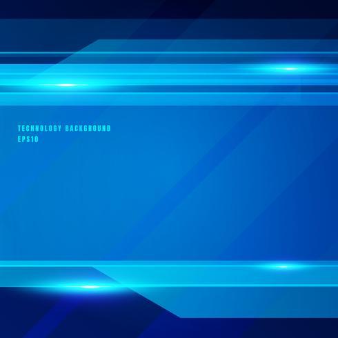 Fondo brillante di moto di colore blu geometrico astratto di tecnologia. Modello per brochure, stampa, annunci, riviste, poster, sito Web, riviste, opuscoli, relazione annuale. vettore
