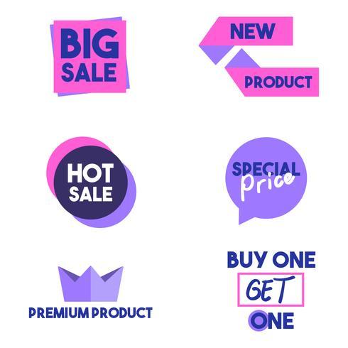 Banner di elemento grafico di vendita e sconto vettore