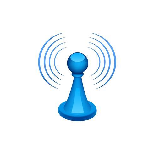 Icona Wi-Fi che invia segnali vettore