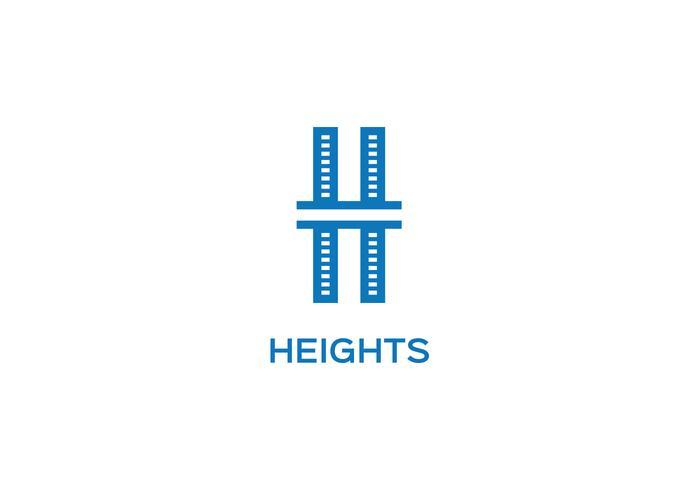 Logo della lettera H. vettore