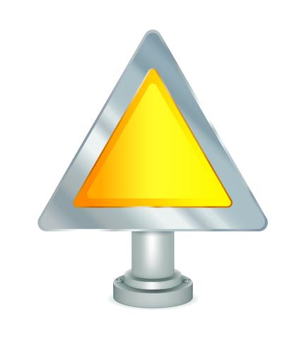 Segnale di avvertimento vuoto vettore