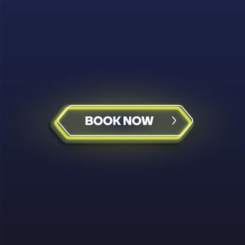 Bottone al neon brillante variopinto, illustrazione di vettore