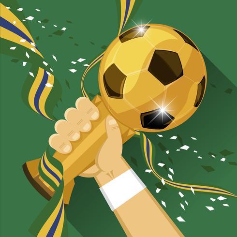 vincitore del calcio mondiale vettore