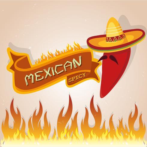 Carte piccanti messicane vettore