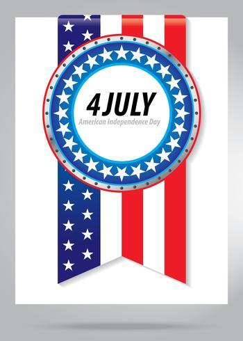 4 luglio simbolo del giorno dell'indipendenza vettore