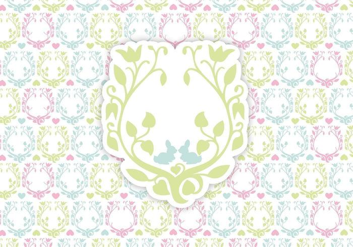 Floral Happy Easter Background Vector