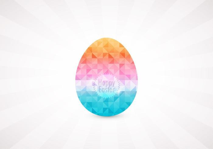 Vettore geometrico dell'uovo di Pasqua del diamante