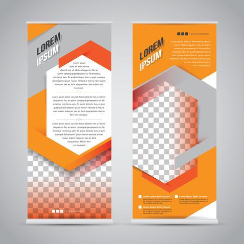 Arancione rotoli sul modello di progettazione del supporto dell'insegna vettore