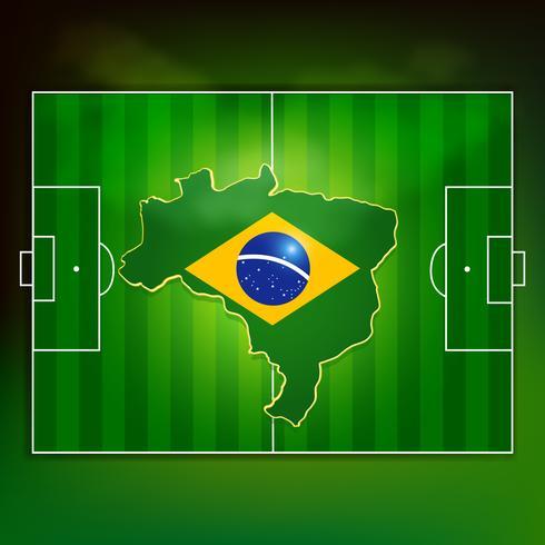 campo da calcio in Brasile vettore