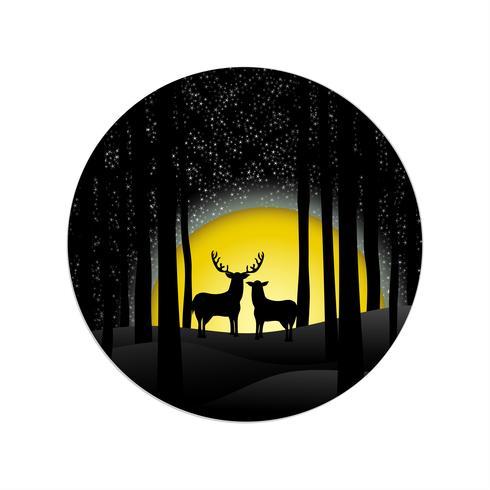 Sfondo di Natale di notte vettore