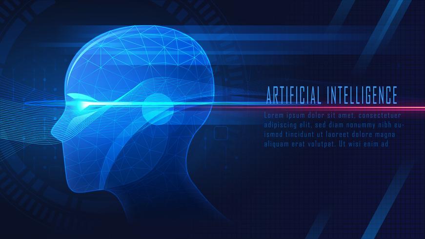 AI futuristico vettore