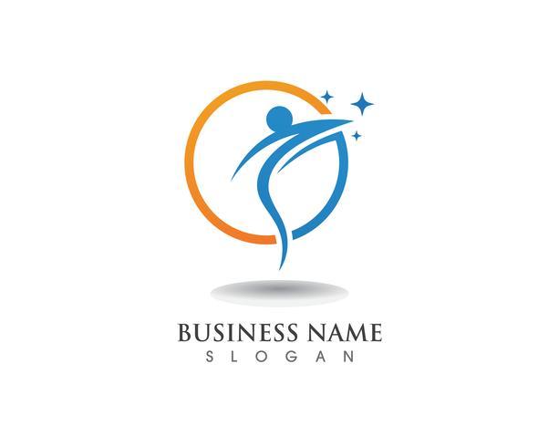 Logo persone di successo vettore