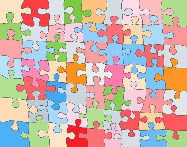 Vector Astratto sfondo colorato fatto da pezzi di puzzle bianchi e posto per il contenuto.