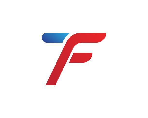 Progettazione dell'illustrazione dell'icona di vettore del modello di simboli di logo di F