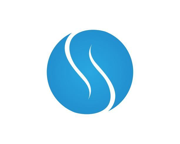S logo lettera, icona del volume modello elemento di design vettore
