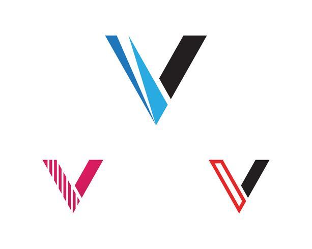 V logo e simbolo icona del modello vettoriale