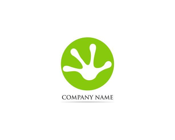 Illustrazione di vettore di logo e simbolo della rana