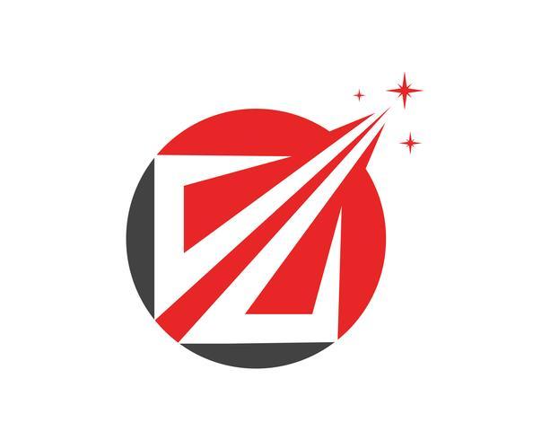Modello di app logo e simboli finanza aziendale vettore