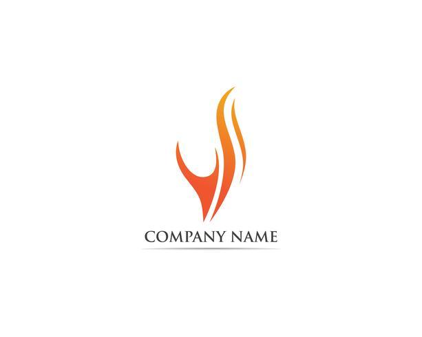 Modello di fuoco logo vettoriale caldo
