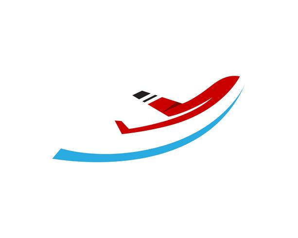 Modello di vettore di logo e simboli della mosca dell'aeroplano