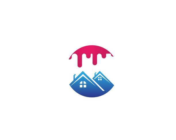 dipingere logo aziendale casa vettore