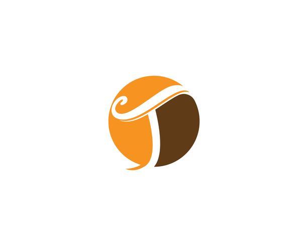 T lettere logo e simboli modello icone app vettore