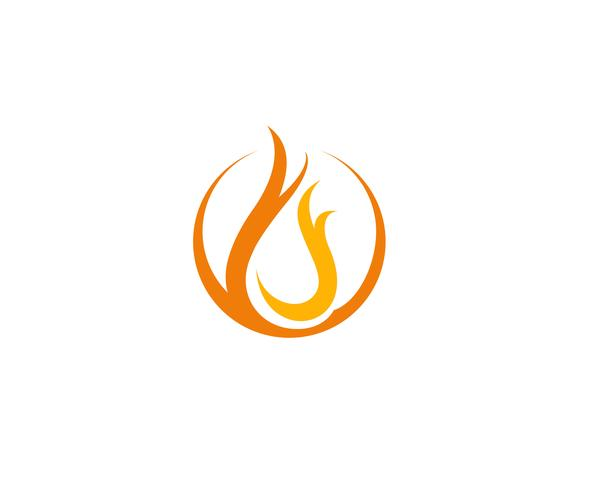 Fire Logo Template vector