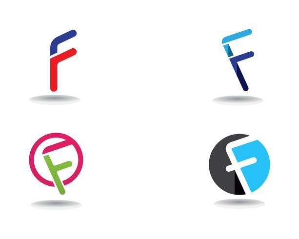 Lettera di modello di vettore di simboli di affari di logo di F