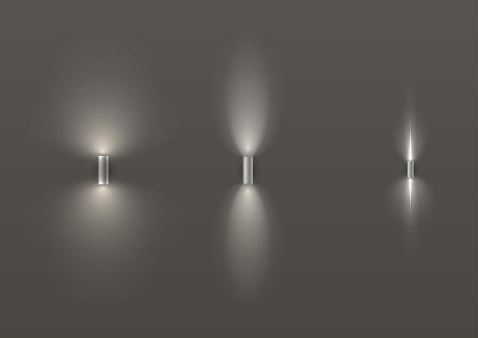 Set di diverse lampade moderne vettore