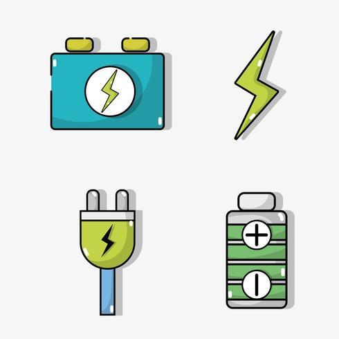 imposta la batteria delle auto elettriche e la tecnologia di ricarica dell'energia vettore