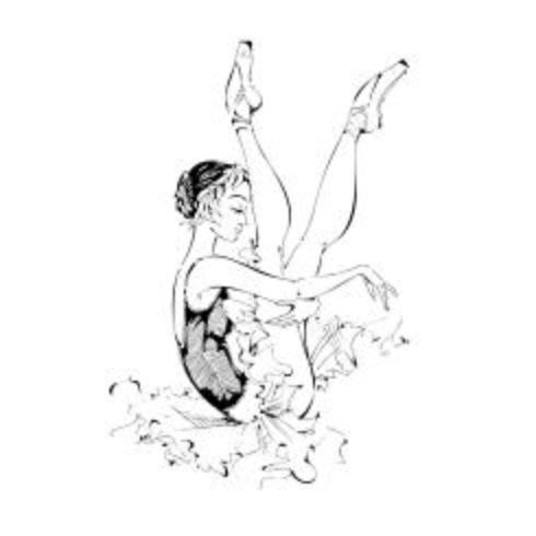 Giovane ballerina Ballerino. Balletto. Grafica. Illustrazione vettoriale