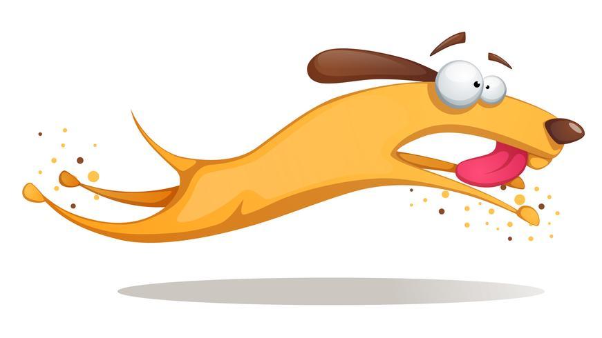 Funnu, carino, pazzo cane giallo. vettore