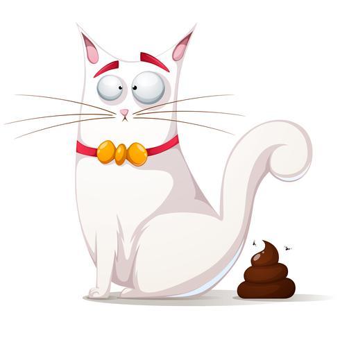 Illustrazione di gatto divertente, carino. vettore