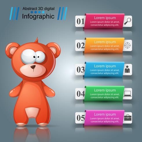 Infografica di carta. Icona foglia. dieci articoli. vettore