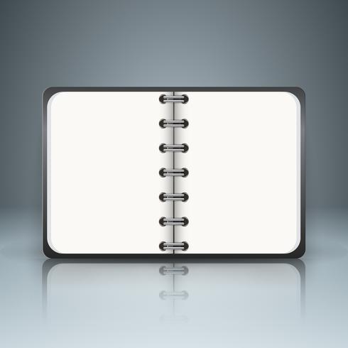 Libro di carta - infografica di affari. vettore