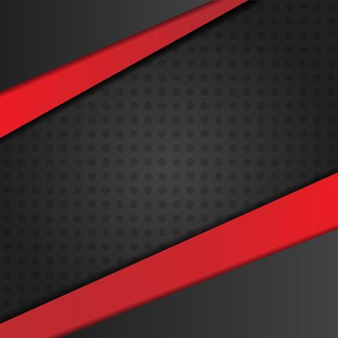Astratto sfondo nero con strisce rosse a contrasto e ombre vettore
