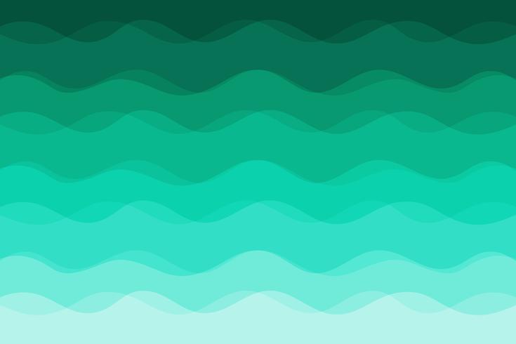 Sfondo di onde verdi per il design vettore